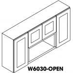 """Cinnamon Glaze Wall Cabinet Open 60""""W 12""""D 30""""H"""