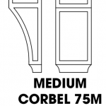 K-White Corbel 75M with Recessed Center, Medium