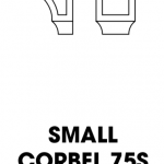 K-White Corbel 75S with Recessed Center, Small